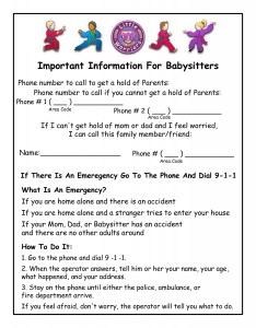 Importantinfobabysitters