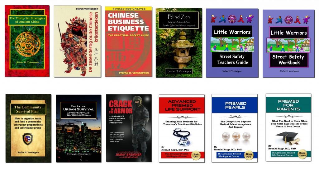 books composite